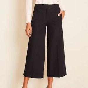 Ann Taylor Wide Leg Cropped Pants size 8